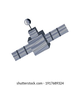 space satellite discovery icon isolated vector illustration