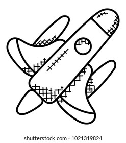 Space shuttle vector doodle. Orbital Spacecraft