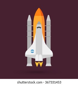 space shuttle vector icon stock vector 2018 367331453 shutterstock rh shutterstock com nasa space shuttle vector space shuttle vector logo