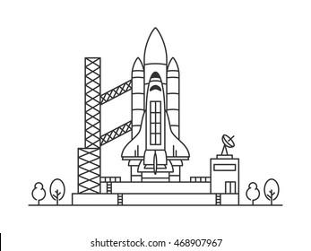 Space shuttle vector illustration.