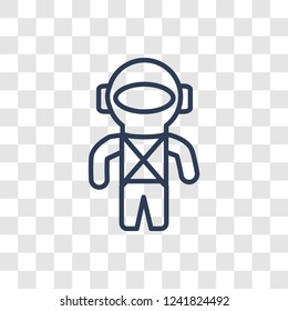 Space suit icon. Trendy linear Space suit logo concept on transparent background from ASTRONOMY collection