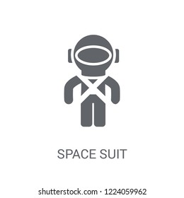 Space suit icon. Trendy Space suit logo concept on white background from Astronomy collection. Suitable for use on web apps, mobile apps and print media.