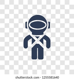 Space suit icon. Trendy Space suit logo concept on transparent background from Astronomy collection