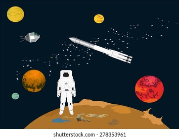 Space thematic illustration