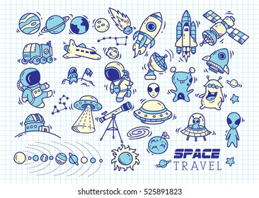 Outer Space Doodle High Res Stock Images Shutterstock