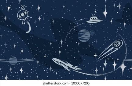 Space ufo pattern
