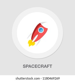 spacecraft icon - vector rocket - spaceship icon