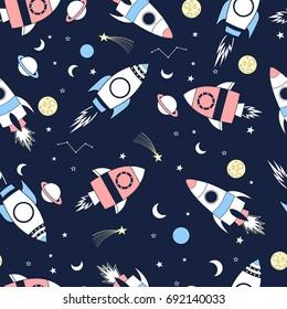 spaceship  pattern illustration vector.