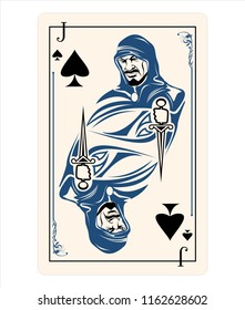 spades jack playing card game symbol isolated style character man sign