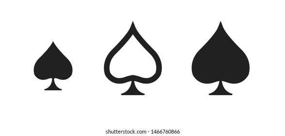 Spades playing cards icons, symbol  vector