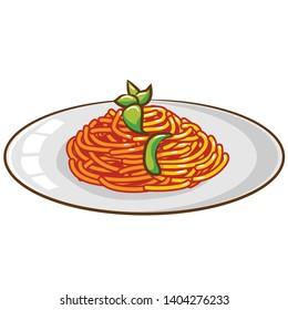spaghetti vector graphic clipart design