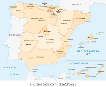 Gran Canaria Map Stock Photo Photo Vector Illustration 230795983