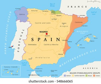 Map Of Spain Labeled.Imagenes Fotos De Stock Y Vectores Sobre Portugal Spain Map