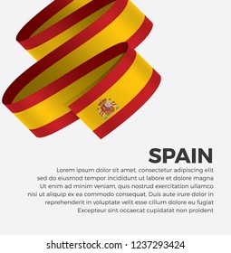 Spain flag for decorative.Vector background