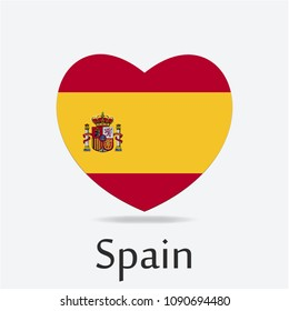 Spain Flag in Heart Shape