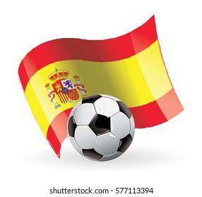 Spain Flag Waving football