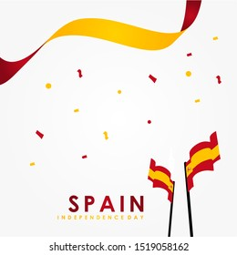 Spain Independence Day Vector Design Template
