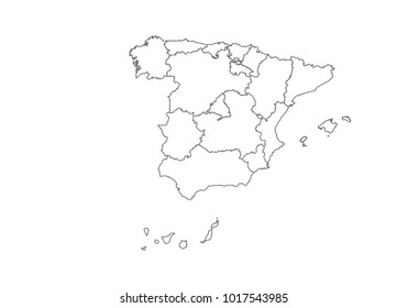Spain Map Of Provinces.Spain Provinces Map Images Stock Photos Vectors Shutterstock