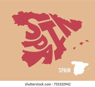 SPAIN / map / name
