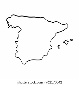 Map Of Spain Drawing.Spain Map Draw Stock Illustrations Images Vectors Shutterstock