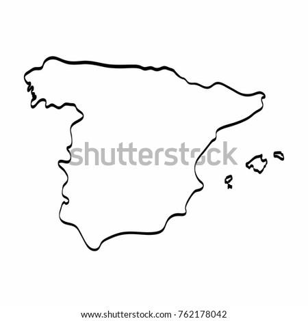 Map Of Spain Drawing.Map Of Spain Drawing Twitterleesclub