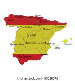 Regional Map Of Spain.Barcelona Spain Map Stock Vectors Images Vector Art Shutterstock