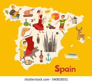 Kids Map Of Spain.Imagenes Fotos De Stock Y Vectores Sobre Cartoon Map Spain