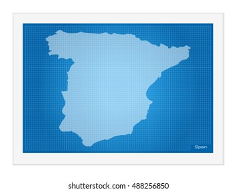 Blueprint spain images stock photos vectors shutterstock spain on blueprint on a white background malvernweather Images