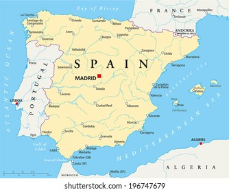 Map Of Spain La Coruna.Portugal Map Images Stock Photos Vectors Shutterstock