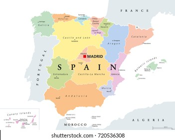 Map Of Spain Labeled.Spain Map Images Stock Photos Vectors Shutterstock