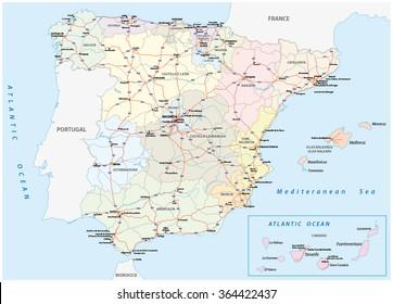 Road Map Spain Images Stock Photos Vectors Shutterstock
