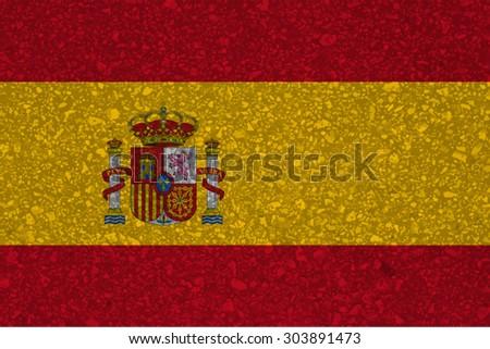 spain spanish espanol flag grunge texture vector stock vector