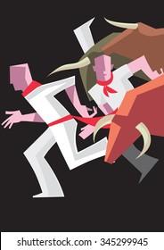 Spanish Bull Run - illustration