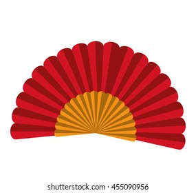 spanish fan isolated icon design, vector illustration  graphic