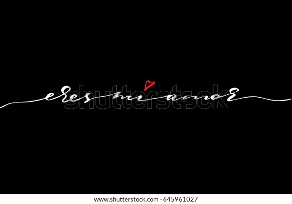 Spanish Love Quotes Lettering You My Stock Vector Royalty
