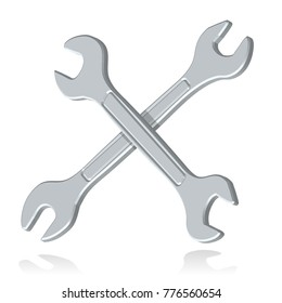 spanners or wrenches crossed