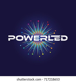 Spark Colorful Power Led Logo Symbol