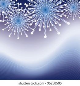sparkeling blue fire works in the dark sky nice for backgrounds