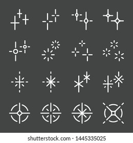sparkle and shiny flash icon set. vector and illustration.