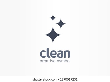 Sparkle star, fresh creative symbol concept. Lightning, astronomy, glare, cleaning company abstract business logo. Housekeep, shine, cleaner icon. Corporate identity logotype, company graphic design
