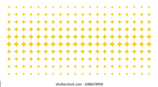 Sparkle star icon halftone pattern, constructed for backgrounds, covers, templates and abstract effects. Vector sparkle star symbols arranged into halftone grid.