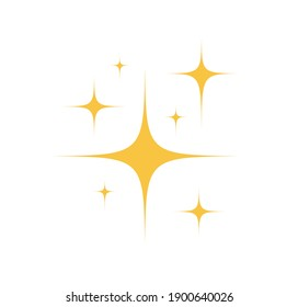 Sparkles Stars icon isolated on white background. Shine icon. Twinkling stars. Vector illustration