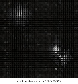 Sparkling Black Mosaic Tile Background