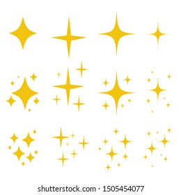 Sparkling black and white symbol vector A set of original sparkling starter icons