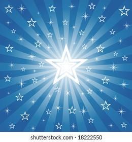 Sparkling Christmas Star (Vector)