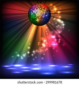 sparkling disco ball. Night party