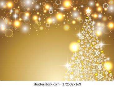 Sparkling golden christmas background design
