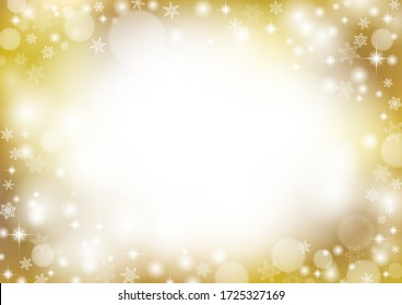 Sparkling golden christmas background design