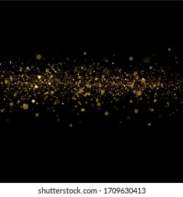 Sparkling magic dust particles.Yellow dust yellow sparks and golden stars shine with special light.Christmas Abstract stylish light effect on a transparent background.Christmas abstract vector pattern