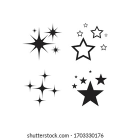 Sparkling star icon vector design